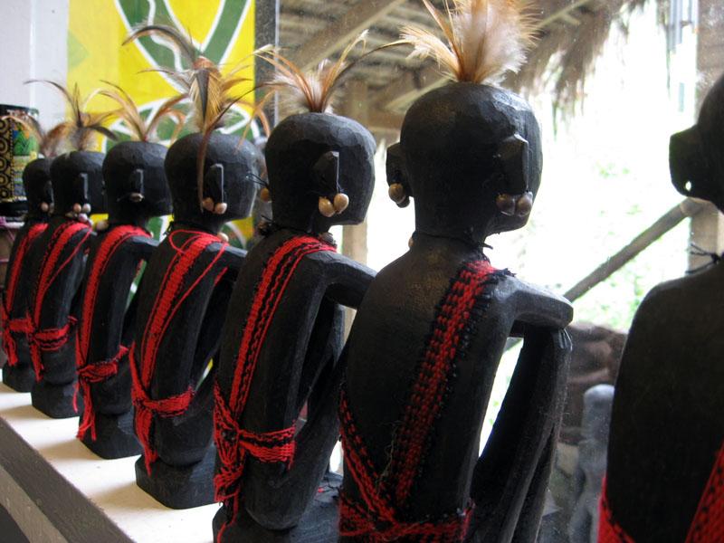 a row of RICE GODS at the souvenir shop
