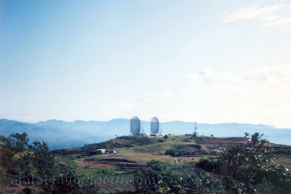 view of the US Army radar installation from the PAGASA weather station
