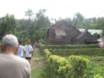 tatay_diko_kuya passing  by a native Waray hut en route to the lighthouse