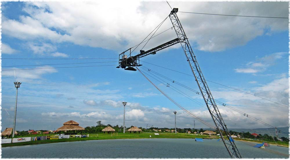 The ski cables of CamSur Watersports Complex