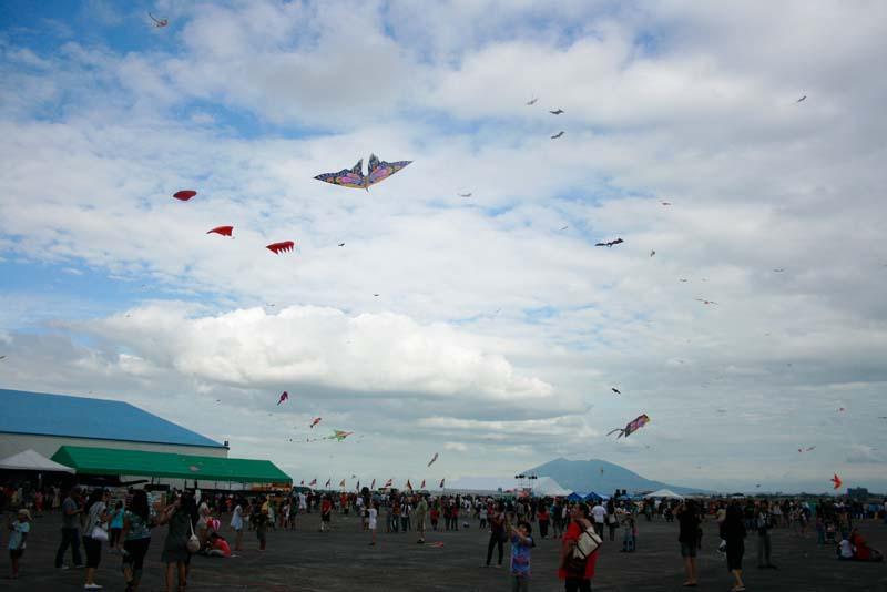 Colorful kite display