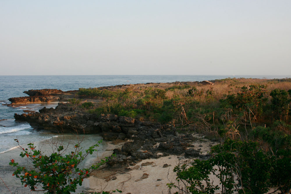 Intertidal rocks along Patar Beach.
