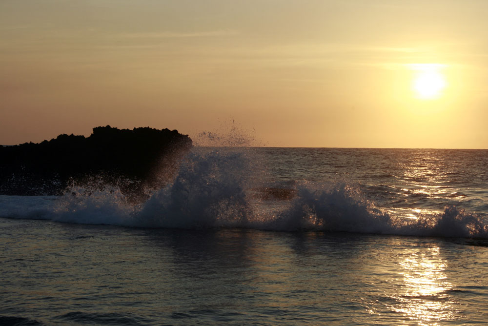 Cape Bolinao Splash at Sundown