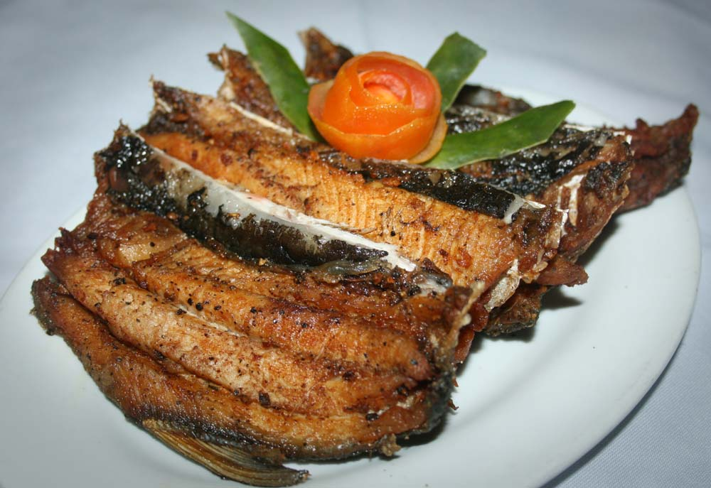 Deep fried bangus