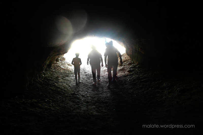 Spelunking at the Governor Island's cave