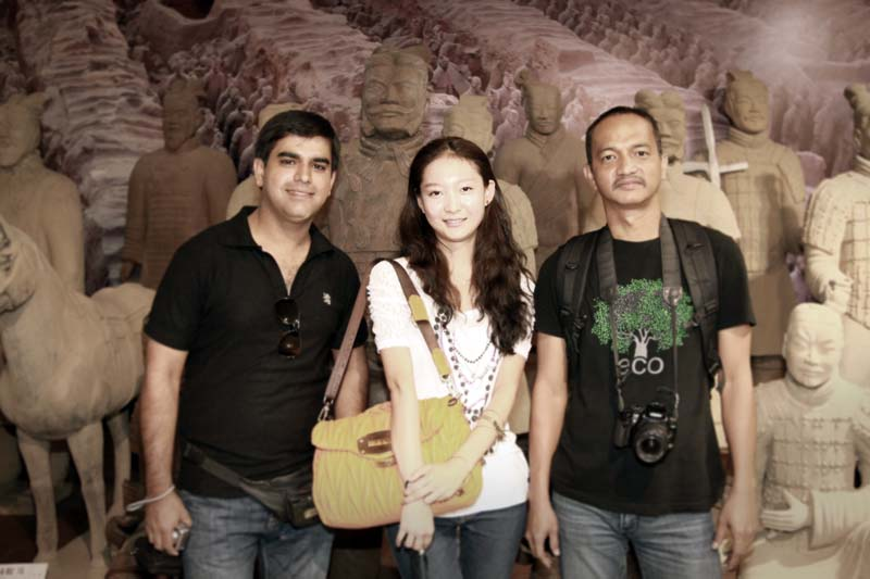 Left to right: Chaudhary Adil, Yu Wei and yours truly