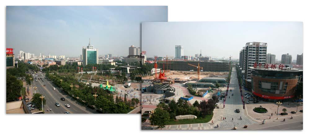 Weinan City from my hotel room window
