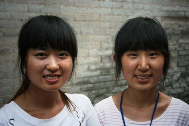 Twin bangs