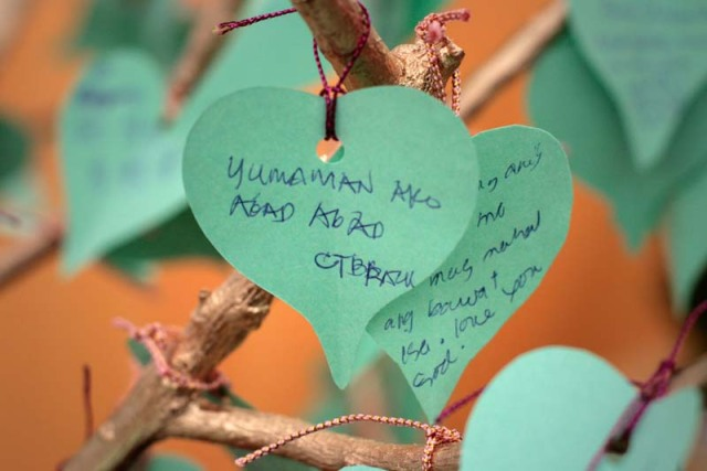 "An amusing prayer on the Wish Tree: ""That I may get rich quick"""