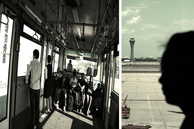 Shuttle service, control tower, sillhoutte
