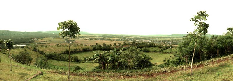Ligao town from the caldera of Kawa-Kawa
