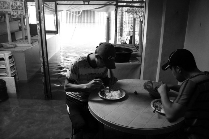 Flooded eatery