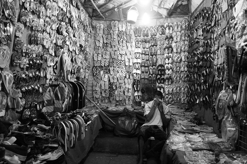 Footwear vendor in Bacolod City