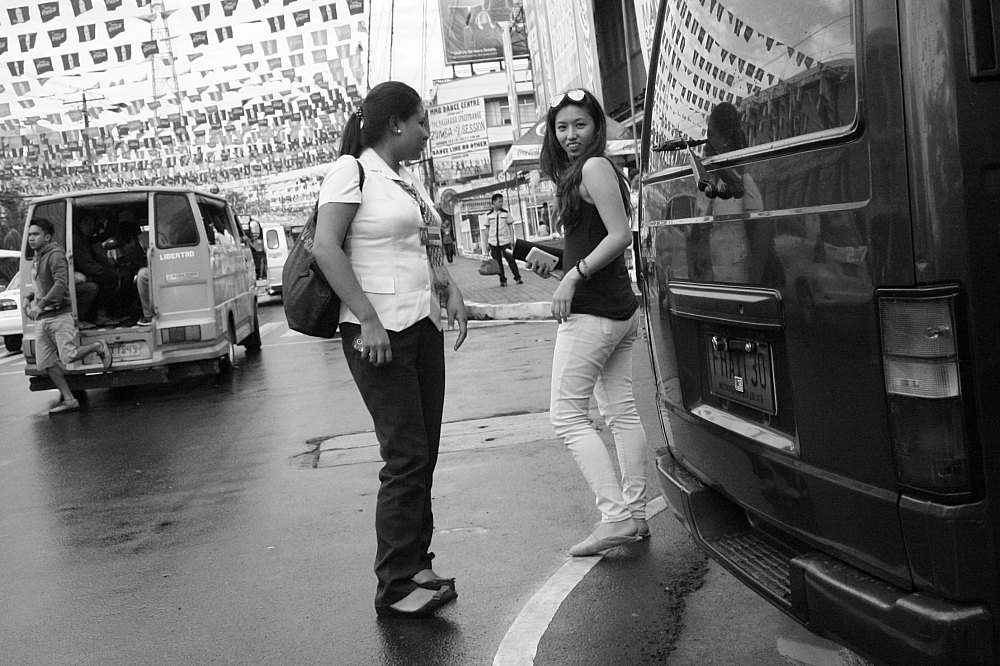 Two ladies on the street Bacolod City