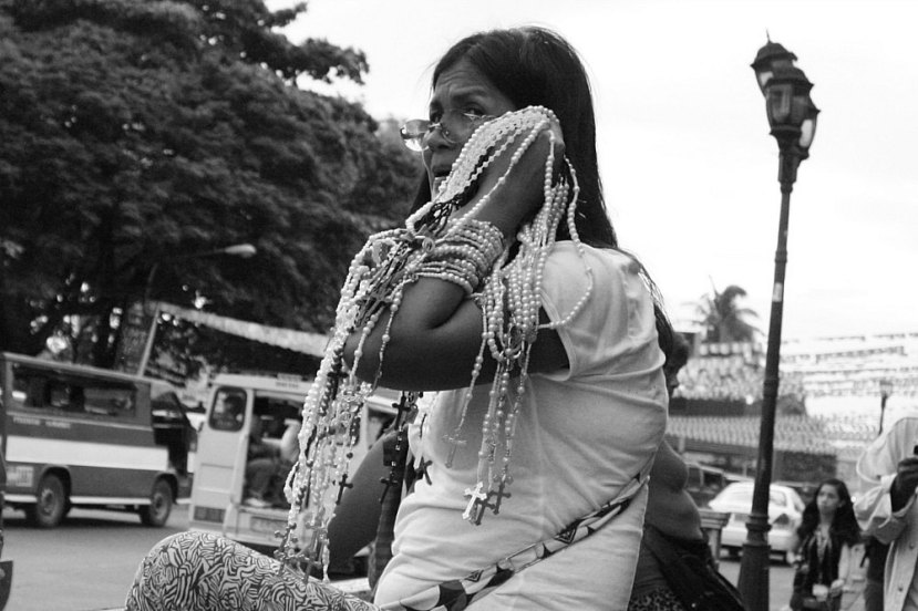 Rosary vendor, San Sebastian Church Bacolod City