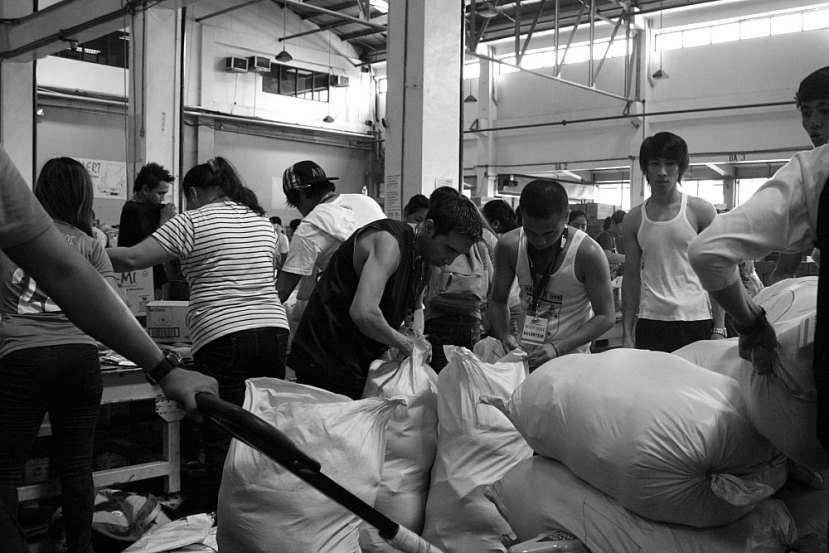 Air21 Cargohaus Building NAIA, relief packing center,