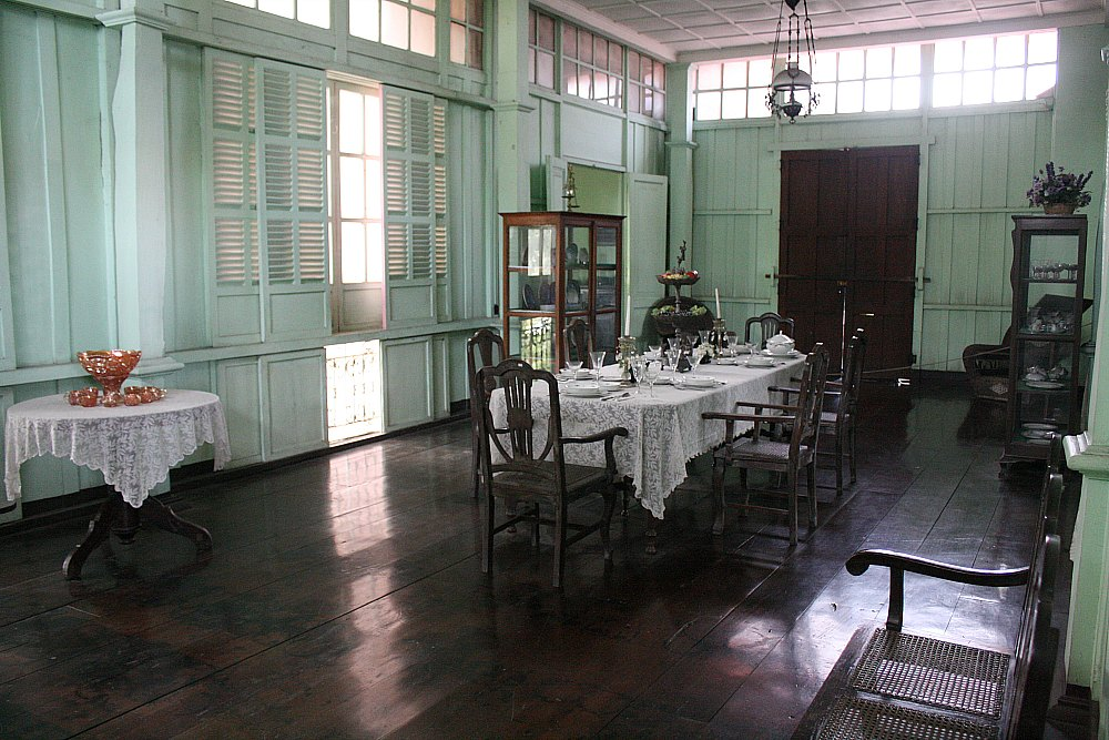 turn of the 20th century house, dining room, Silay city photo by Elmer Nev C. Valenzuela