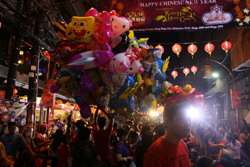 Chinese New Year 2014, Ongpin Street, Chinatown Manila, Elmer Valenzuela, malate.wordpress.com