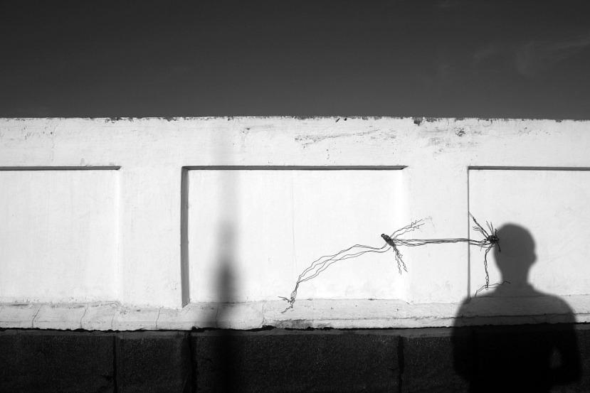 Elmer Nev Valenzuela, street photographer, shadow selfie