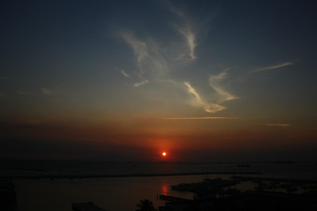 Manila Bay sunset by Elmer Nev Valenzuela