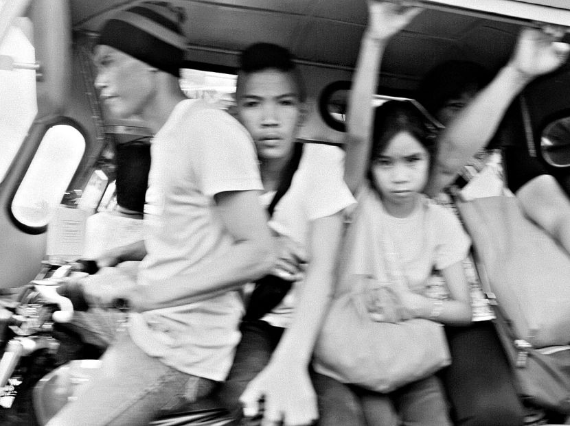 Crammed tricycle in Iriga City