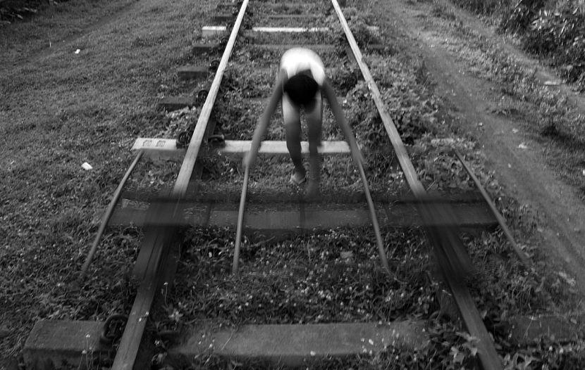 Railway tracks, Iriga City