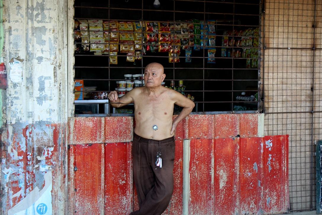 Old man at Puerto Princesa