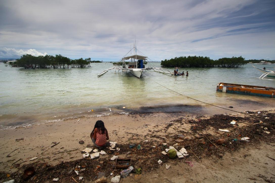 Shoreline of Olango Island