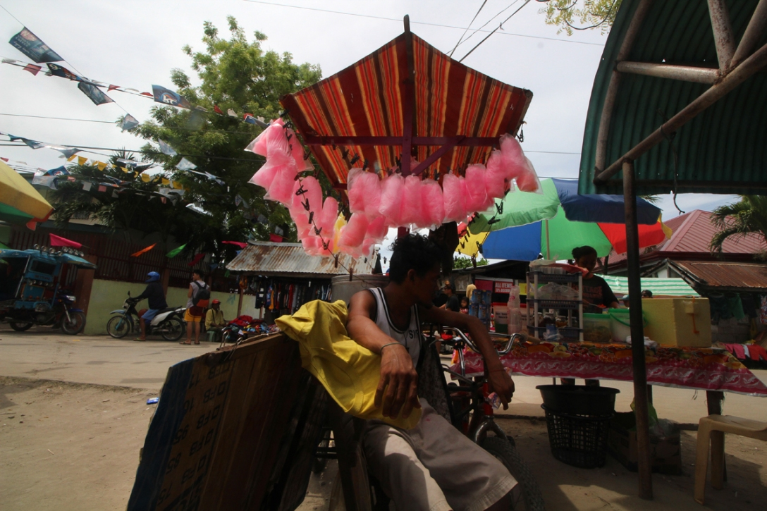 A vendor in Olango Island