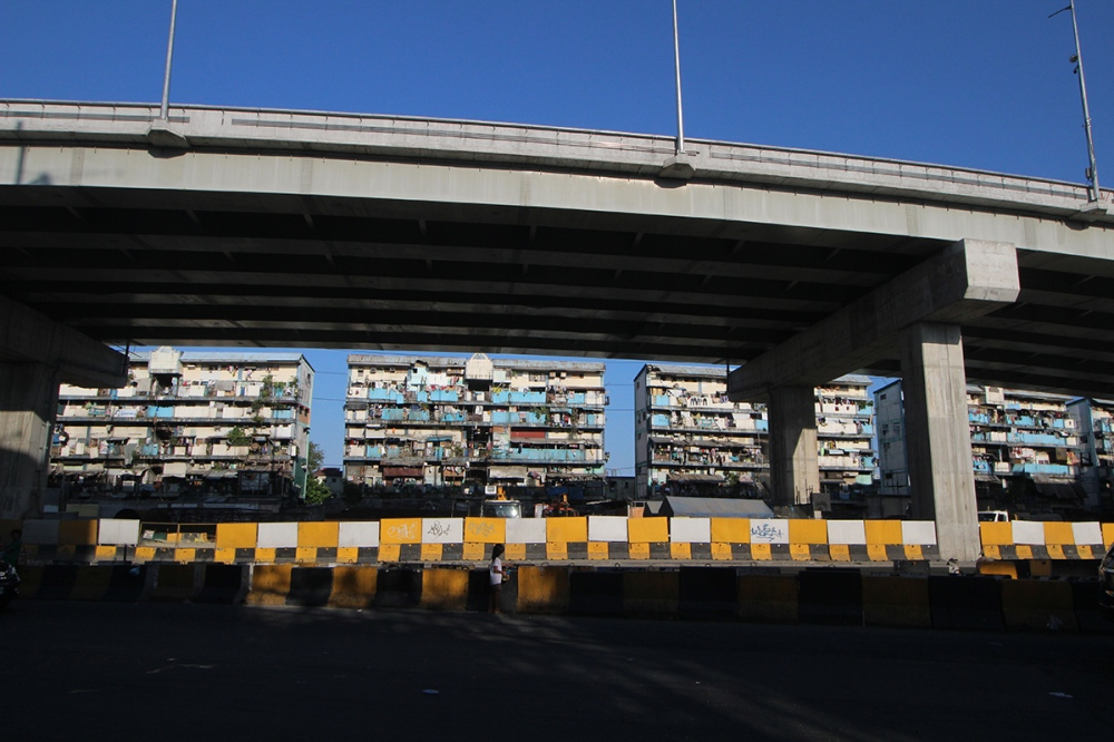 Photo of overpass and residential buildings